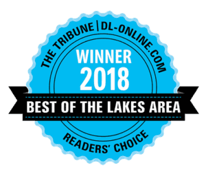 Voted Best of the Lakes Area in 2018